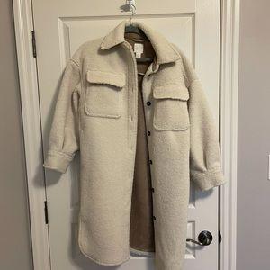 H&M   Sherpa Coat